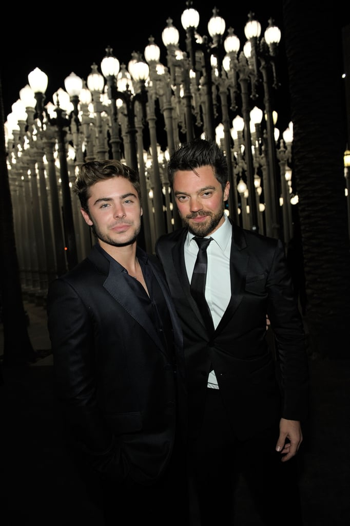 Dominic Cooper caught up with pal Zac Efron.