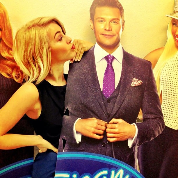 Julianne Hough ran into a cardboard cutout of her boyfriend, Ryan Seacrest. Source: Instagram user juleshough