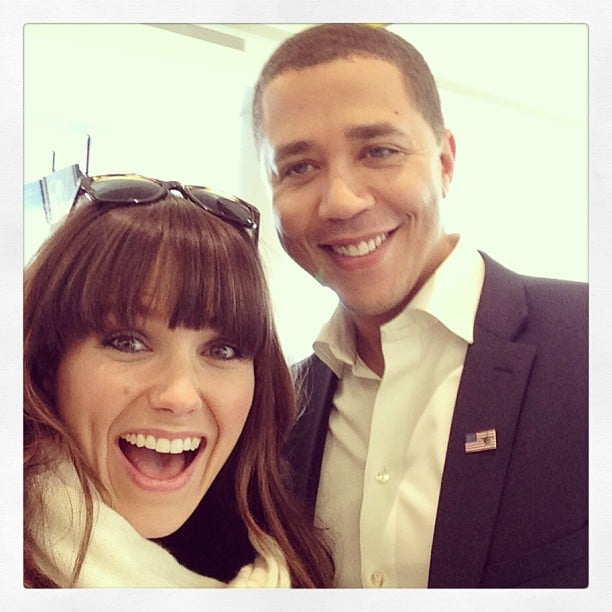 Sophia Bush was on the same flight as Barack Obama impersonator Reggie Brown. Source: Twitter user SophiaBush