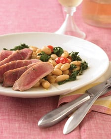 Fast & Easy Dinner: Rosemary Tuna With White Beans