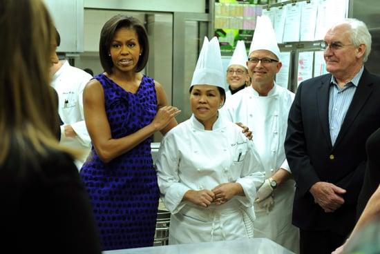 Michelle Obama and Cristeta Comerford Host White House Kitchen Tour