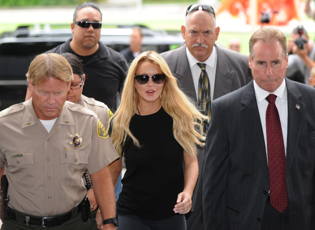 She was still in trouble with the law in 2010, but she made sure to be camera ready at her court appearances.
