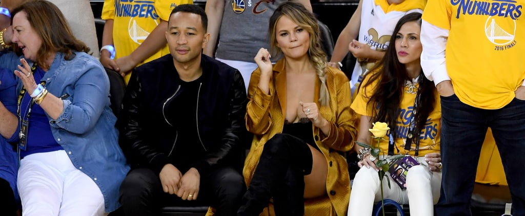 Chrissy Teigen Found the Sexiest Outfit to Fit In With the NBA Crowd