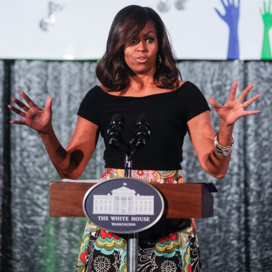 Michelle Obama Floral Skirt White House Talent Show 2016