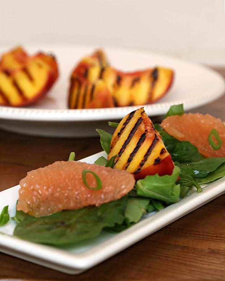 Grilled Peach Salad With Grapefruit Vinaigrette