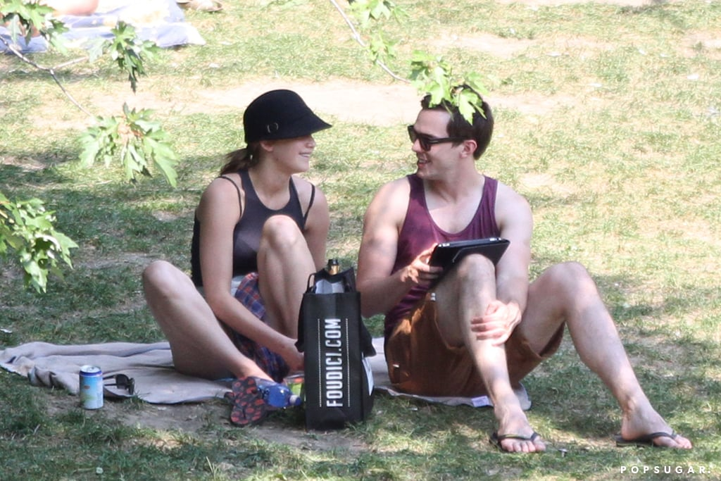 Jennifer Lawrence and Nicholas Hoult shared a PDA-filled date in a Montreal park.