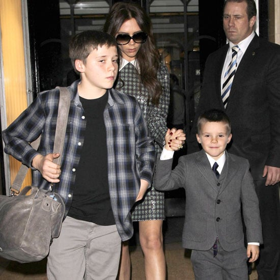 The Beckhams Leave Claridge's Hotel on NYE Pictures