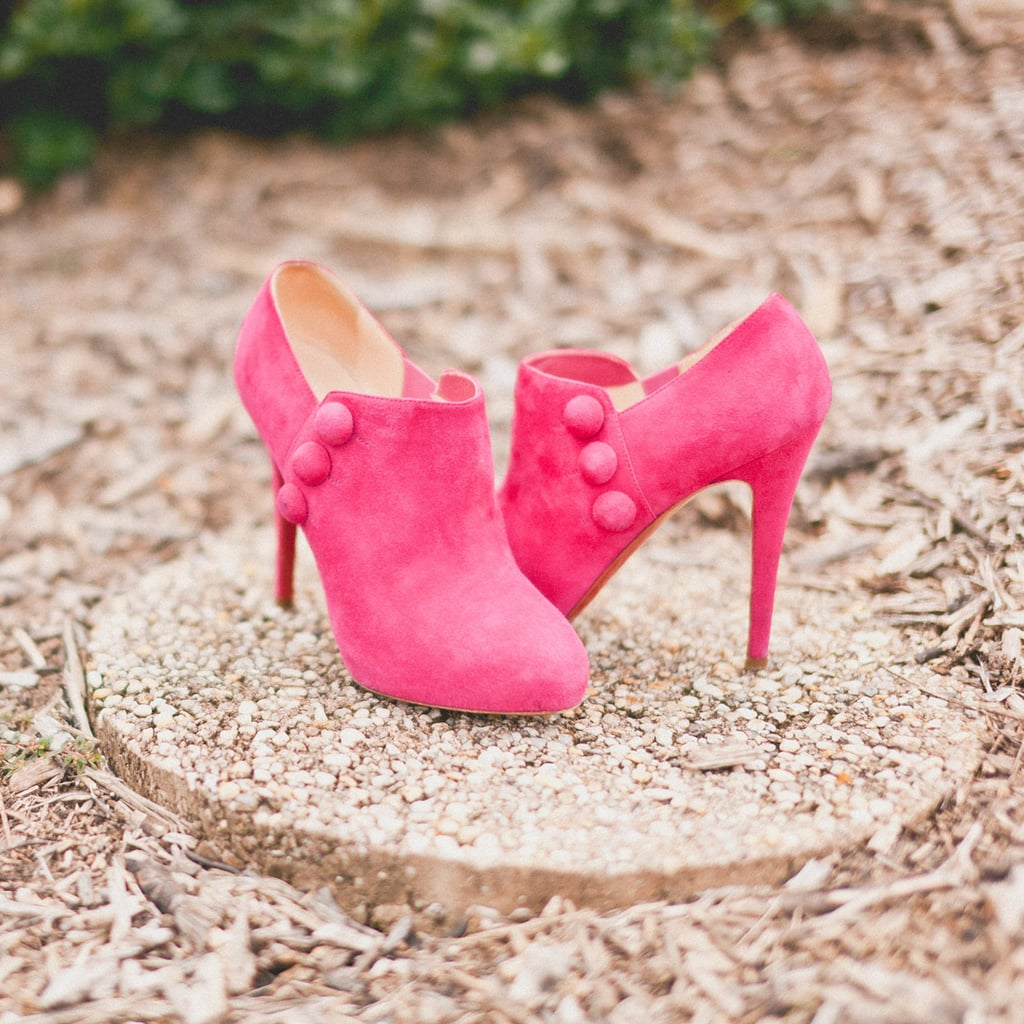 The only thing hotter than Kristin's suede fuchsia booties on the dance floor were her moves. Naturally! Related: 9 Worst Real Wedding Nightmares Source: Sweet Little Photographs
