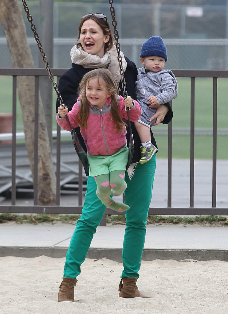 Jen and Ben Get Playful With Their Kids on St. Paddy's Day
