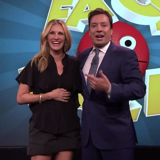 Jimmy Fallon Just Threw a Bunch of Giant Balls in Julia Roberts's Face
