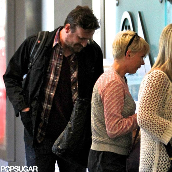 Jason Segel and Michelle Williams arrived at LAX.