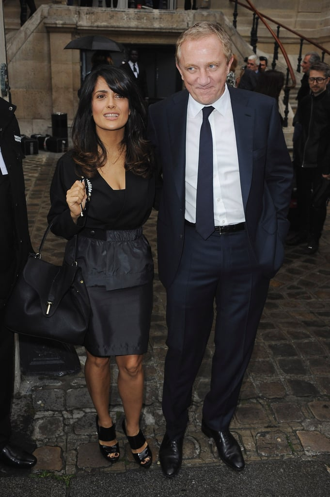 Salma Hayek and Francois-Henri Pinault posed side by side.