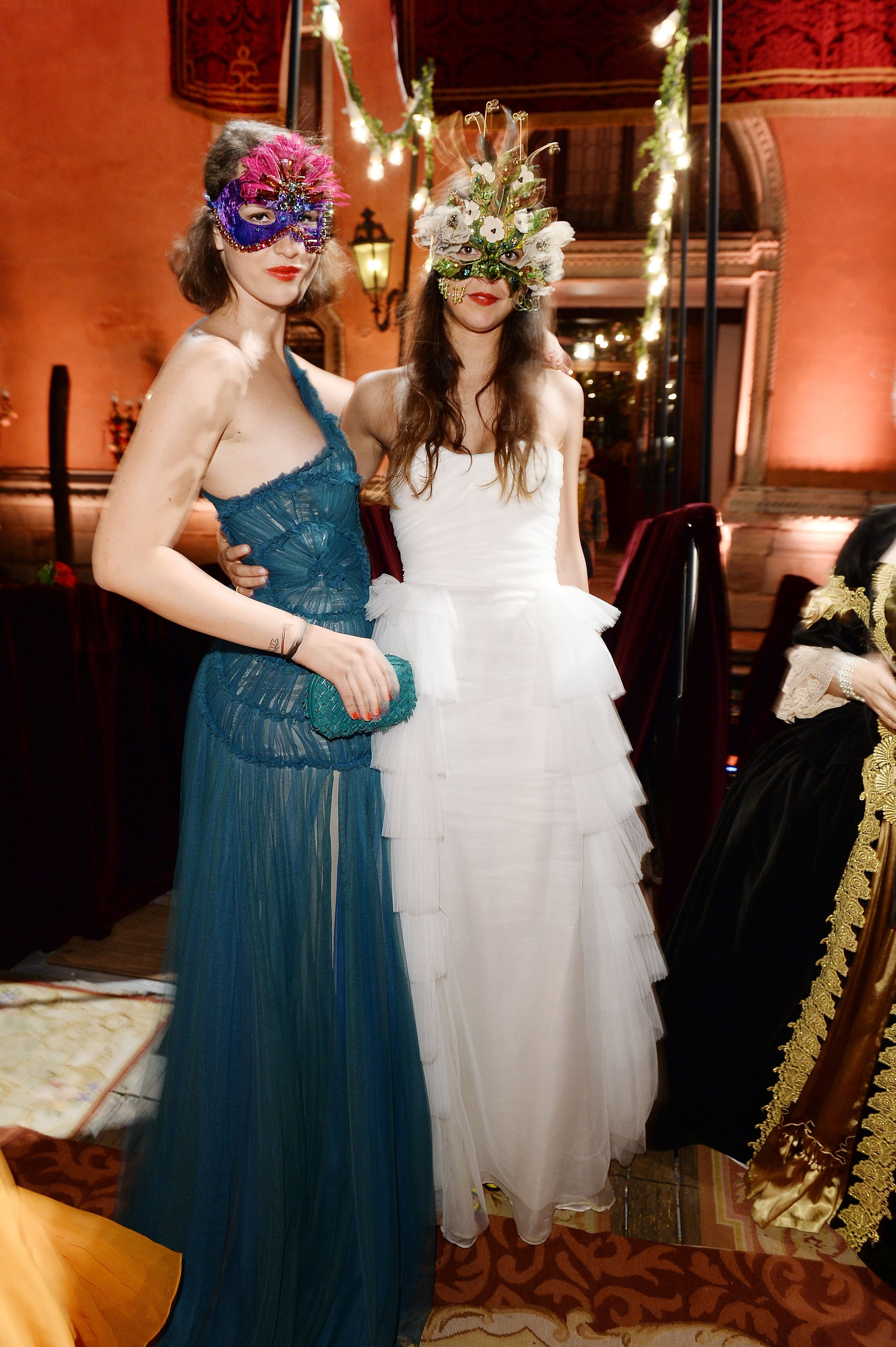 It doesn't get much more romantic and fantastical than Viola Arrivabene Valenti Gonzaga and Vera Arrivabene's airy chiffon gowns at Dolce & Gabbana's Venetian soiree.