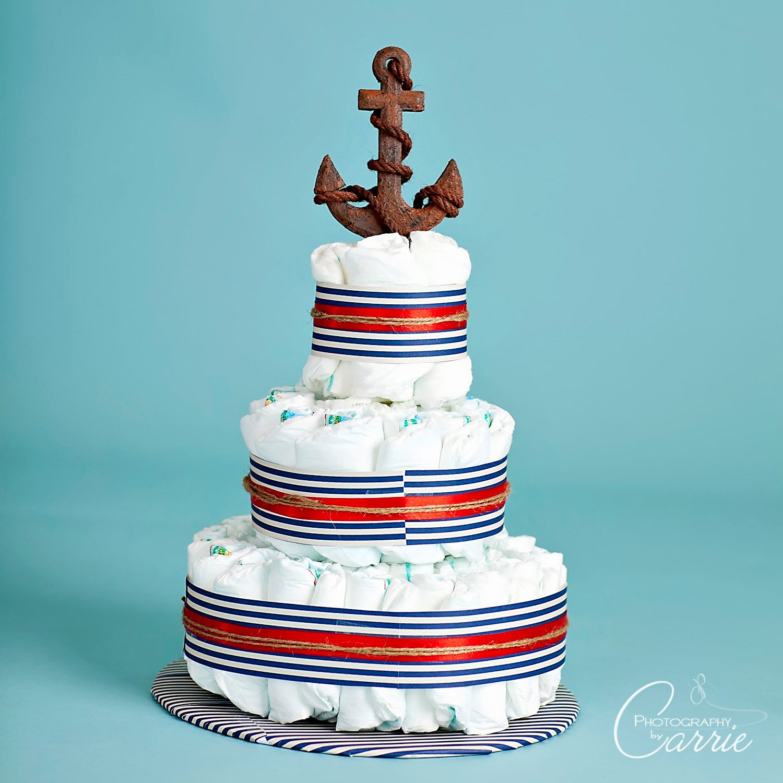 Nautically Themed Diaper Cake