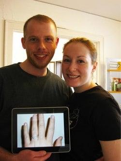 Marriage Proposal on the iPad