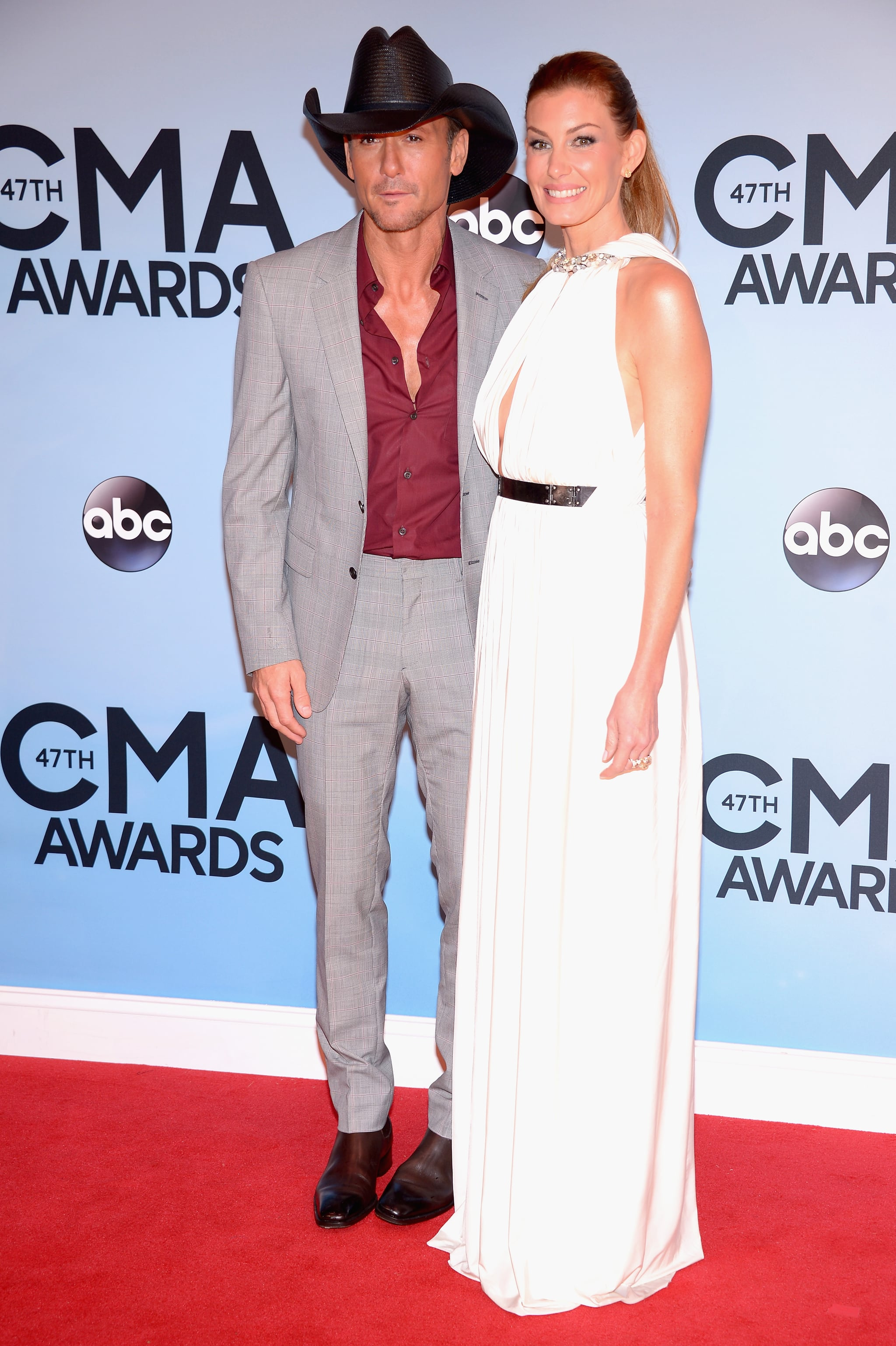 Tim McGraw and Faith Hill walked the CMAs red carpet together.