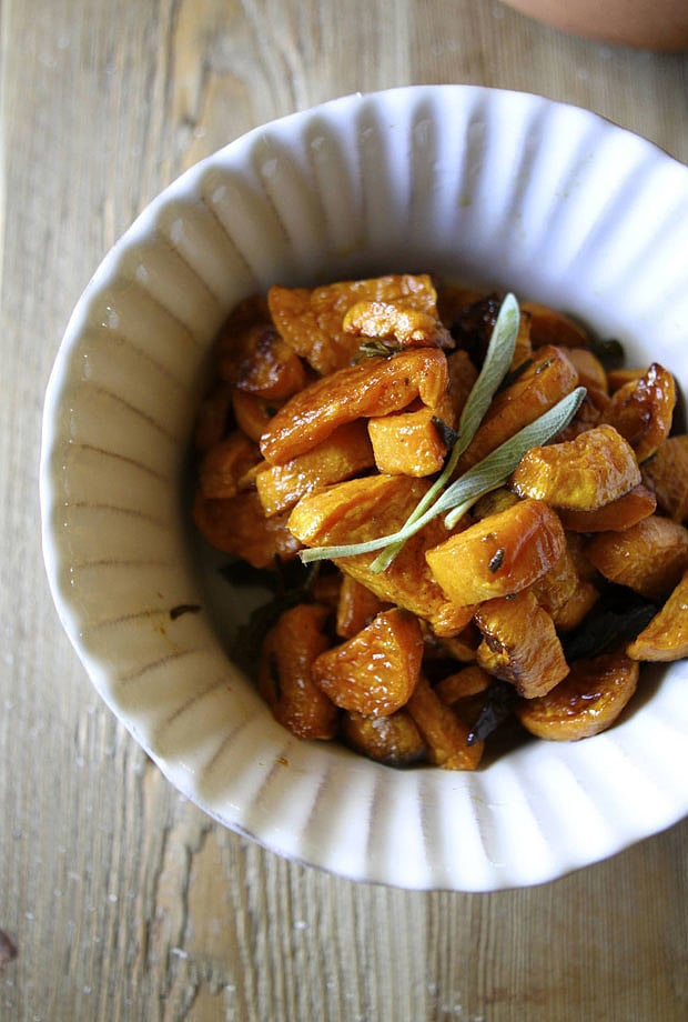 Roasted Sweet Potatoes With Sage and Paprika