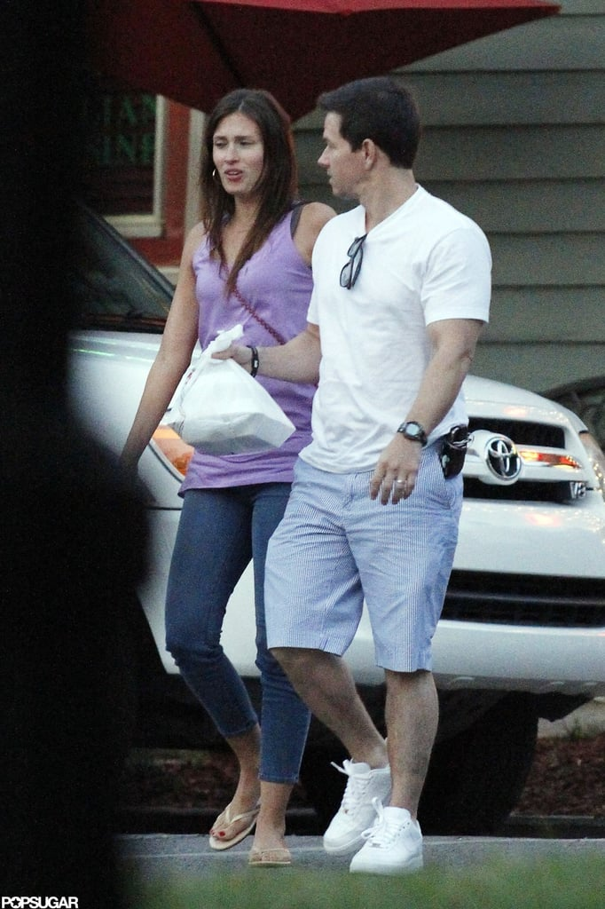 Mark Wahlberg and Rhea Durham looked cute together after grabbing a bite to eat together.