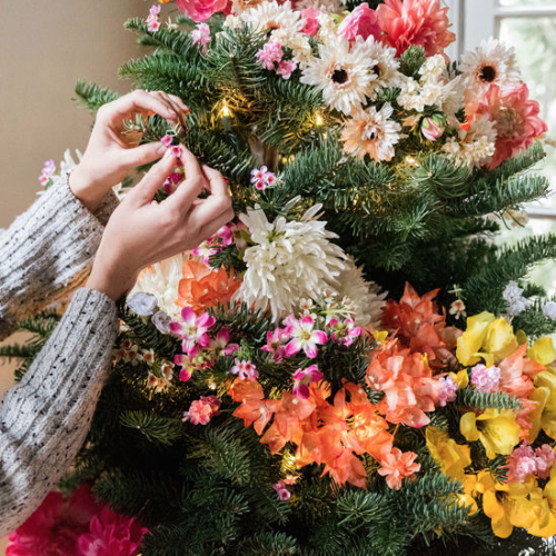 Floral Christmas Trees