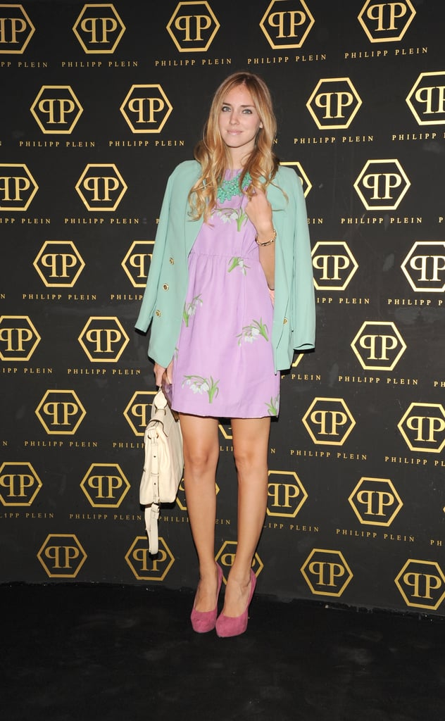 The prettiest pastels were put on blast thanks to Chiara Ferragni and her sweet ensemble at the Philipp Plein show.
