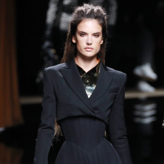 Alessandra Ambrosio Balmain Menswear Fall 2016