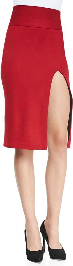 Alice + Olivia Slit Skirt