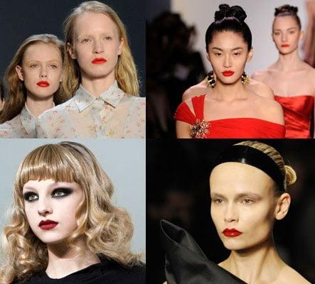 Red Lipstick at New York Fashion Week, 2010 New York Fashion Week Trends 2010-02-18 05:00:00