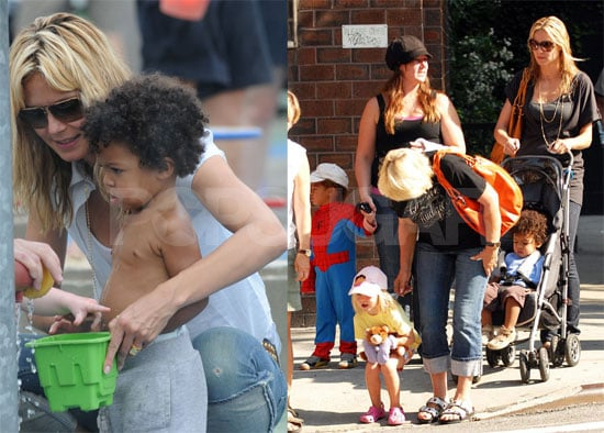 Heidi Klum and Her Family In NYC Playgrounds