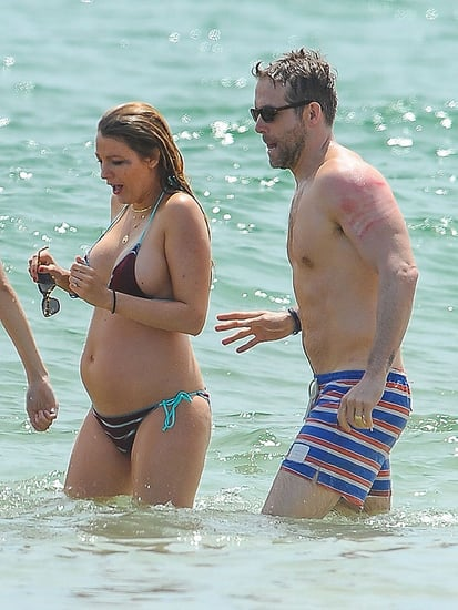 Beach Babe! Blake Lively Shows Off Growing Baby Belly in Itty Bitty Bikini