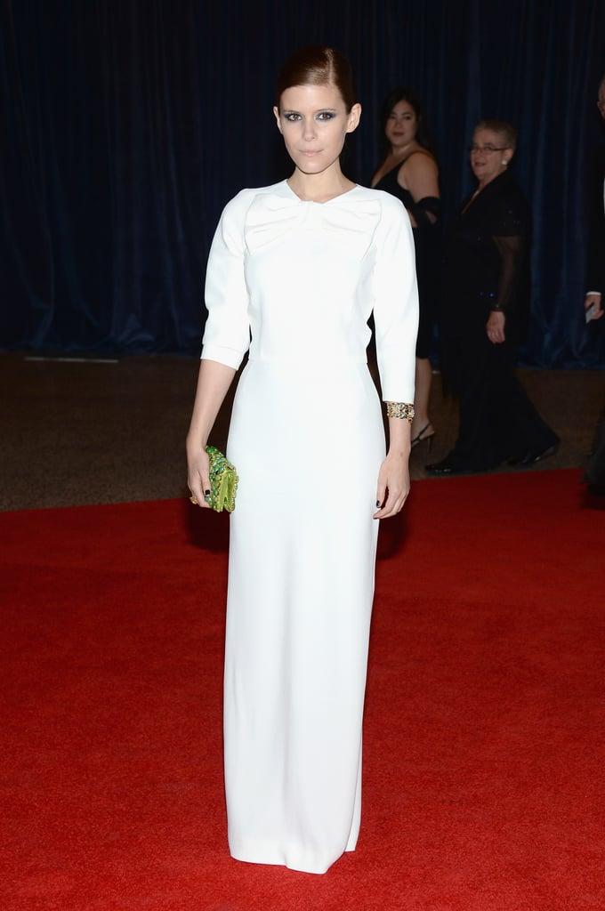Kate Mara wore Prada to the 2013 White House Correspondents Dinner.