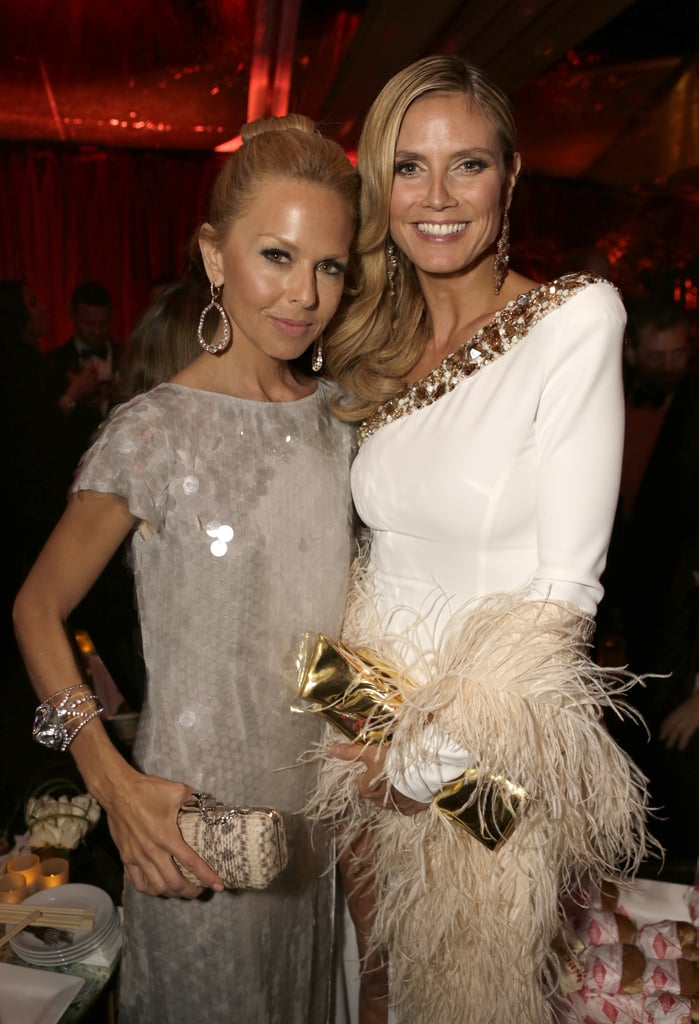 Rachel Zoe and Heidi Klum posed for pictures at the Weinstein party.