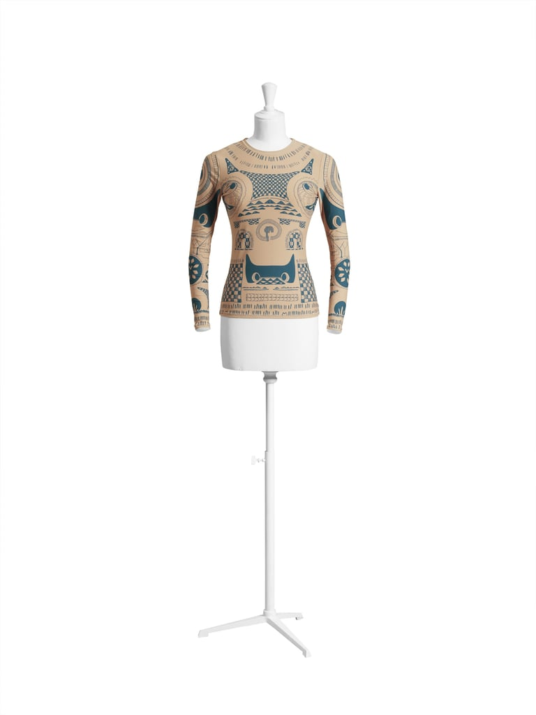 Trompe l'oeil tattoo top ($50)
