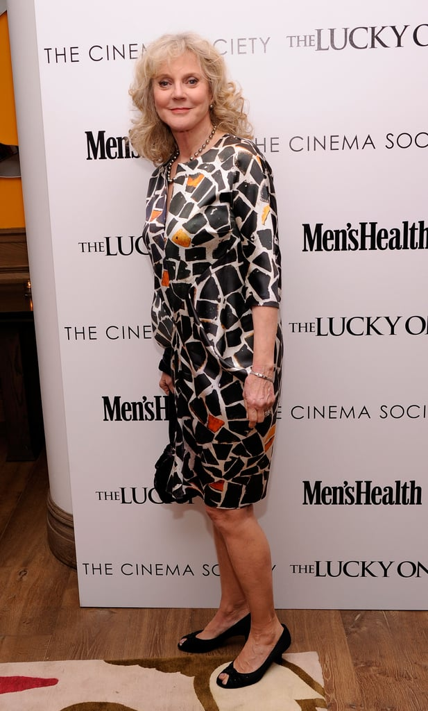 Blythe Danner posed at the Cinema Society and Men's Health screening of The Lucky One in NYC.