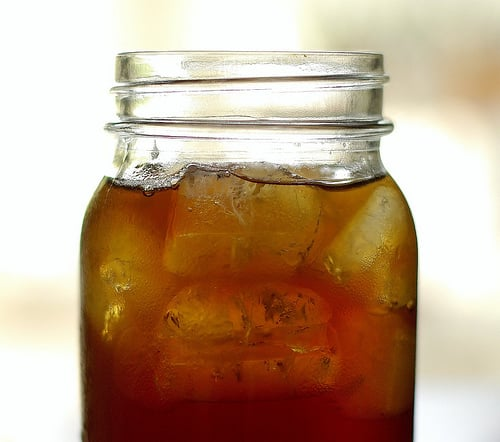 Serve drinks in mason jars.