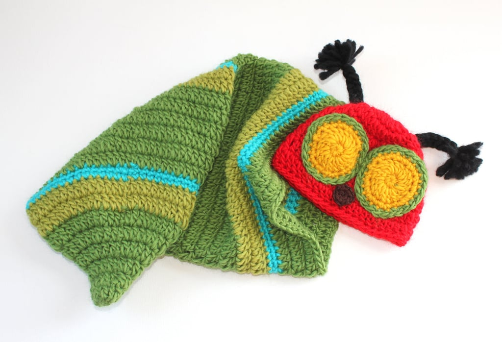 Caterpillar Baby Hat and Cocoon