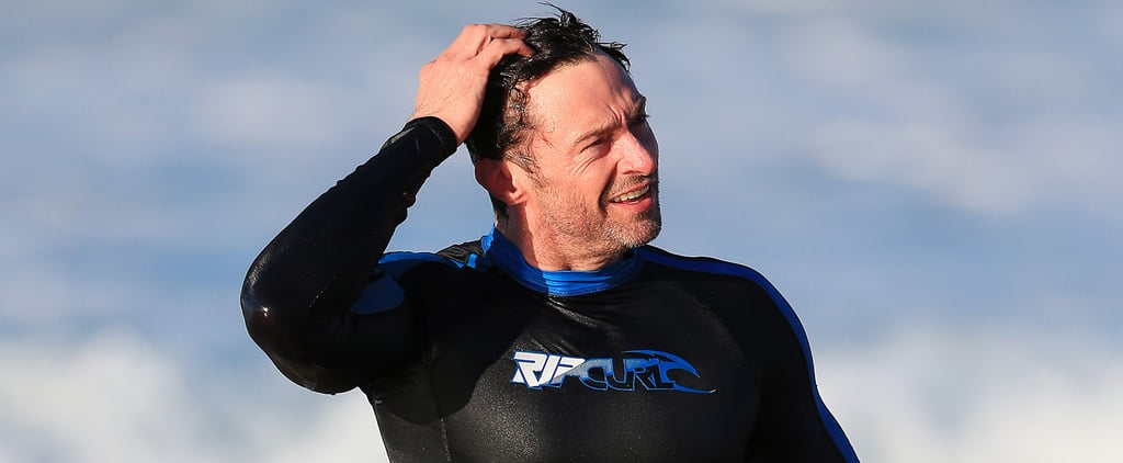 Hugh Jackman Looks Devastatingly Hot While Catching Waves Down Under