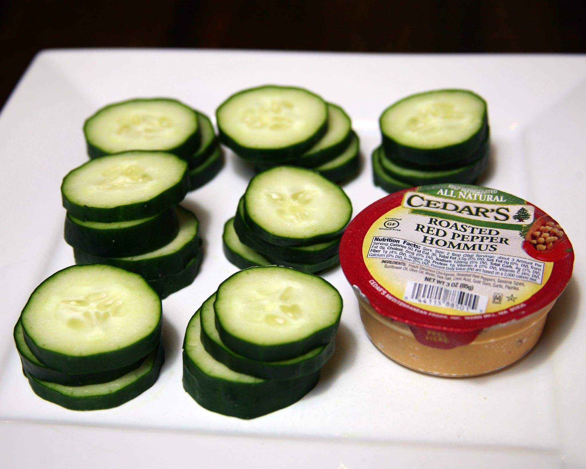 Hummus and Cucumber Slices