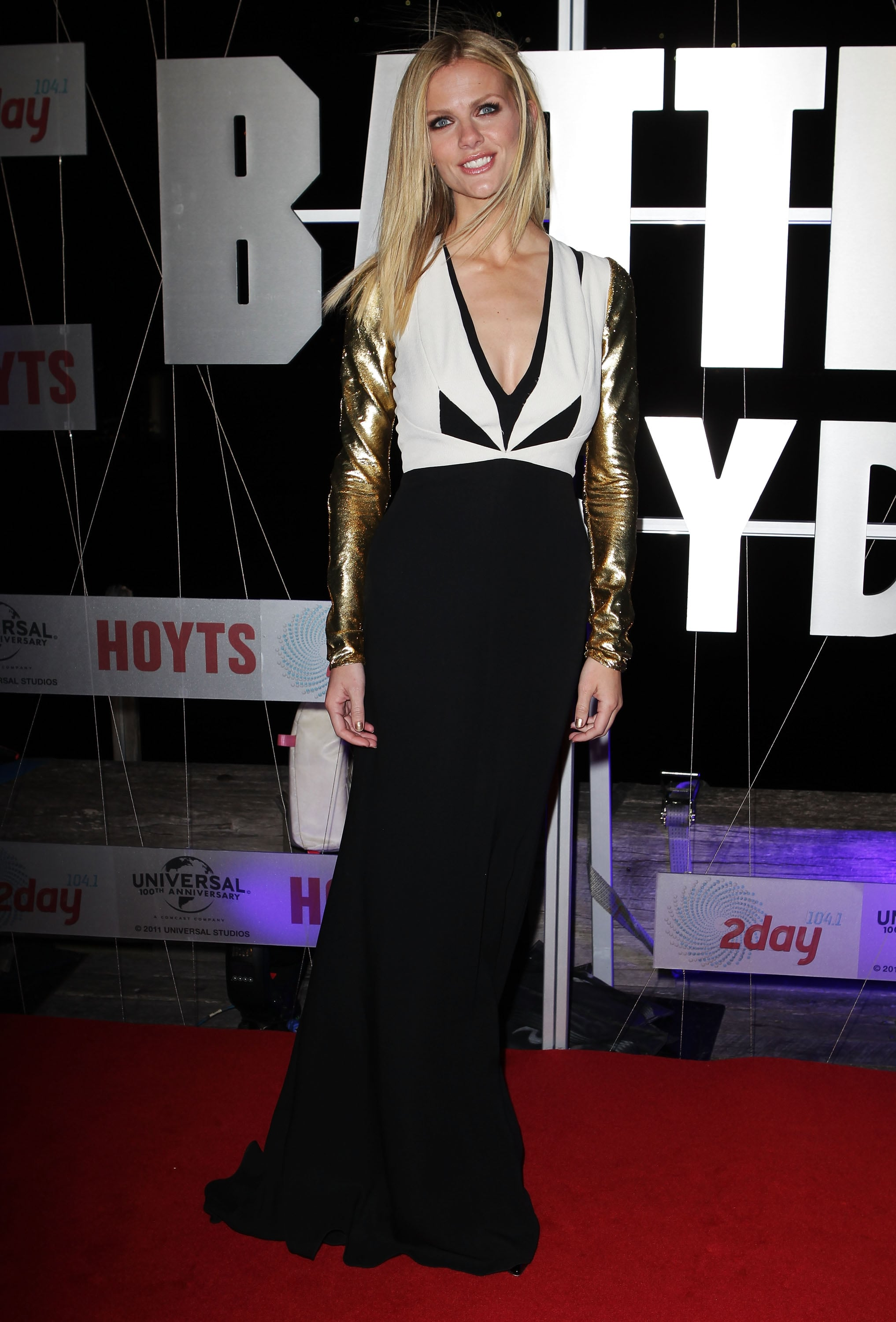 Brooklyn Decker in Metallic J. Mendel at 2012 Battleship Sydney Premiere