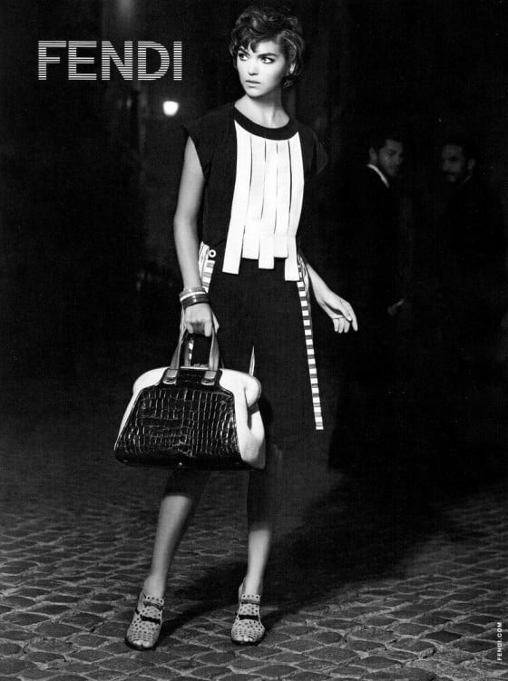 Arizona Muse rocks graphic black and white for Fendi. Source: Fashion Gone Rogue