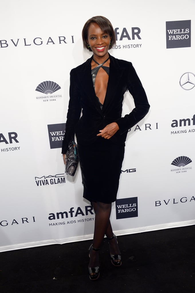 Kiara Kabukuru at amfAR's New York Gala.