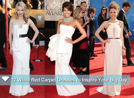 Celebrities Wearing Wedding-Inspired White Dresses on the Red Carpet