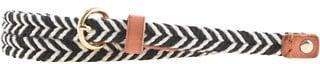 Two-tone skinny rope belt