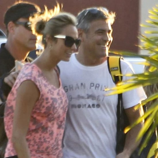 George Clooney and Stacy Keibler Leave Mexico Pictures