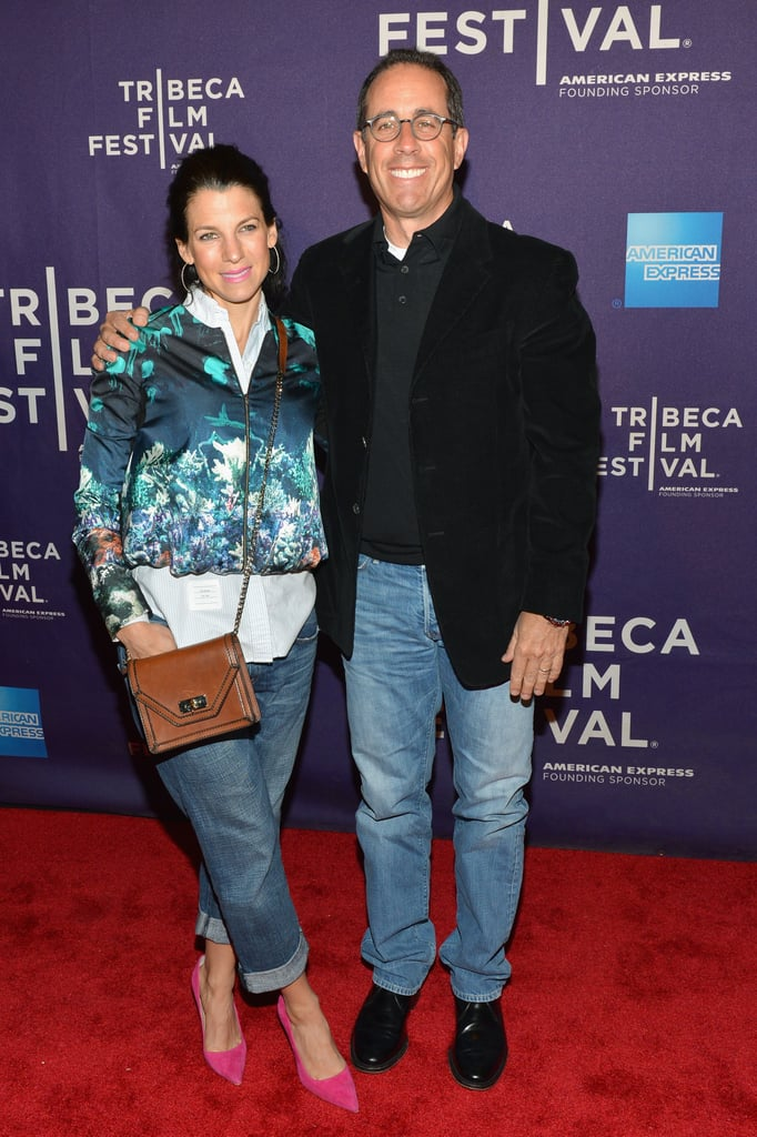 Jerry Seinfeld and his wife, Jessica, posed at the premiere of Kiss the Water at the Tribeca Film Festival.