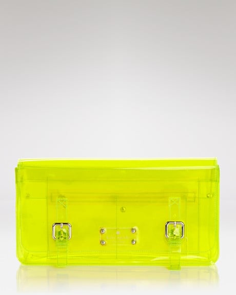 Embrace your spunkier side with a futuristic-feeling clutch. This would be just the thing to lighten up an LWD ensemble.  Kate Spade New York Sunny Hill Clutch ($228)