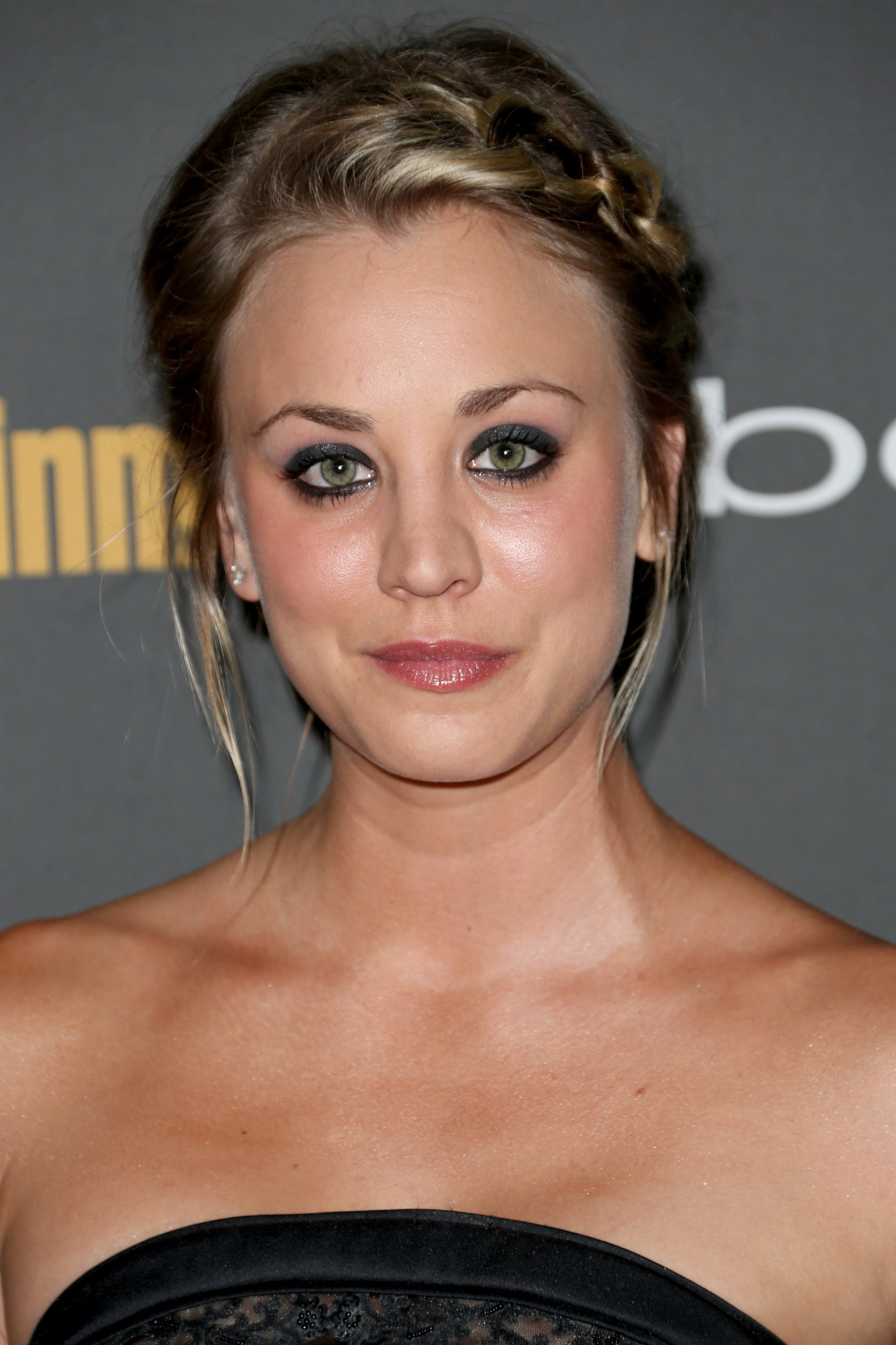 Kaley Cuoco paired a side braid with a smoky eye for a sweet, yet sexy look at Entertainment Weekly's pre-Emmys party.
