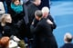 Former president Bill Clinton congratulated Barack Obama before his second presidential inauguration Monday.