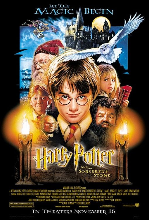 The first Harry Potter movie came out 13 years ago.