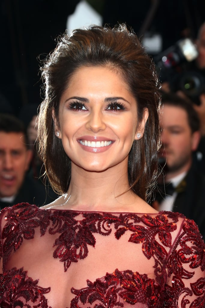 Cheryl Cole's loosely plaited hair was divine — and she rocks a smouldering eye like it's nobody's business.
