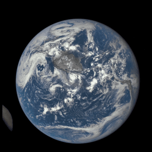 GIF of Moon Crossing in Front of Earth